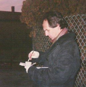 1996 aquarellierend bei Minustemperaturen ...