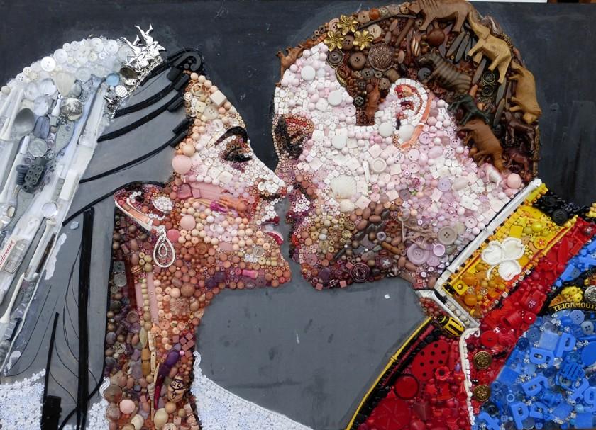 Arte com material reciclado de Jane Perkins
