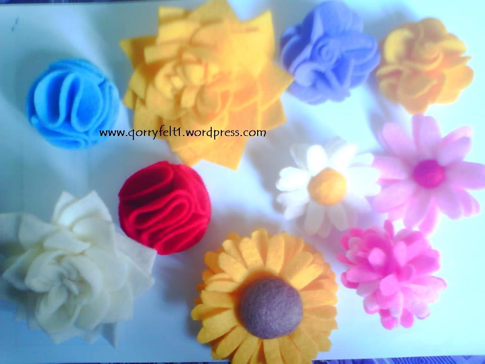 contoh bros bunga yang pernah saya buat,, cantik-cantik kan? he he