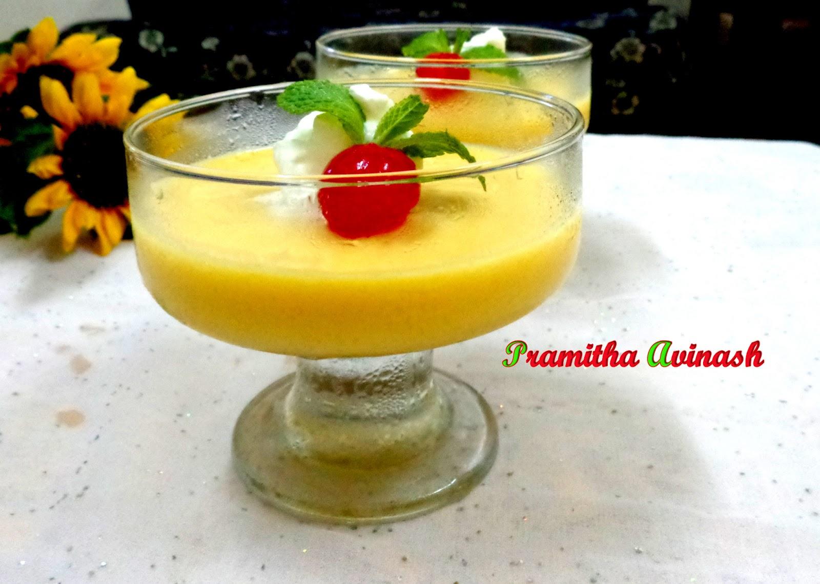 Pramitha Love Cooking!!!!!: Fresh Mango Pudding