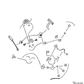 Zeichnung Bild / painting picture : Schlagzeuger / drummer