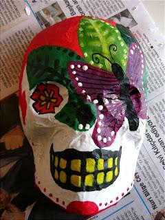 how to make paper mache elk skull