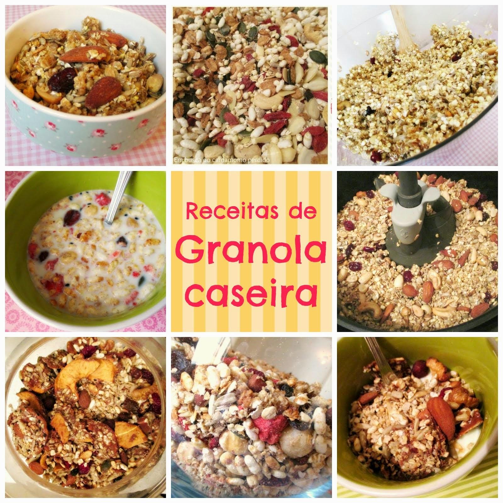 Receitas de granola caseira