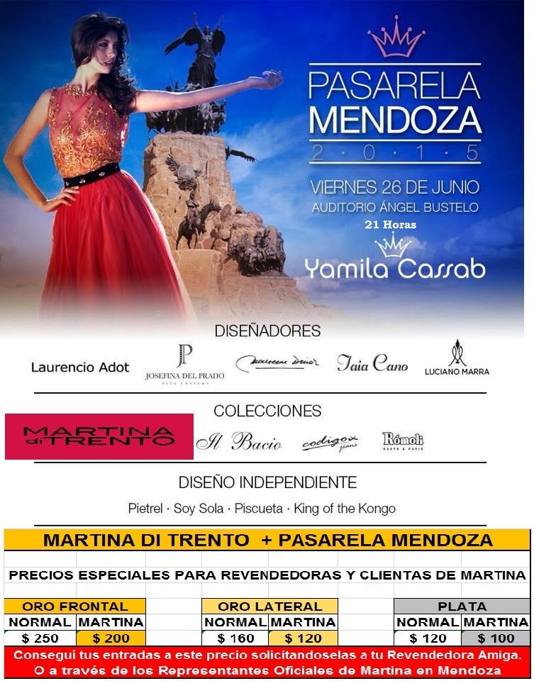 PASARELA MENDOZA 2015 - MARTINA DI TRENTO PRESENTE