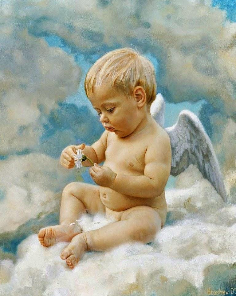 ángeles-pintados-al-oleo