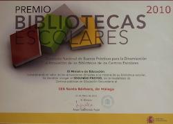 2º Premio Nacional Bibliotecas Escolares