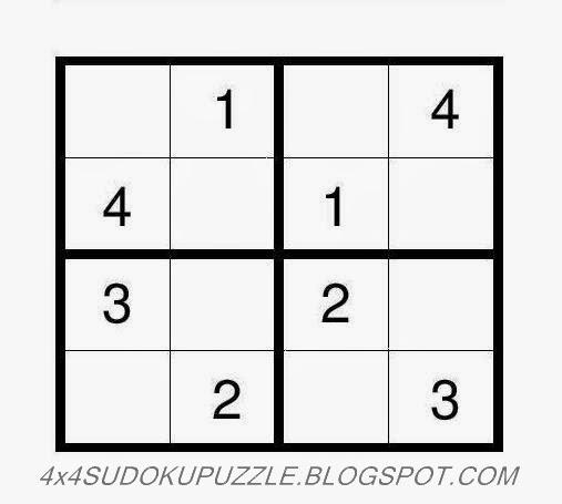 4x4 Sudoku Puzzle - Very Easy 17 ~ 4x4 Sudoku Puzzle