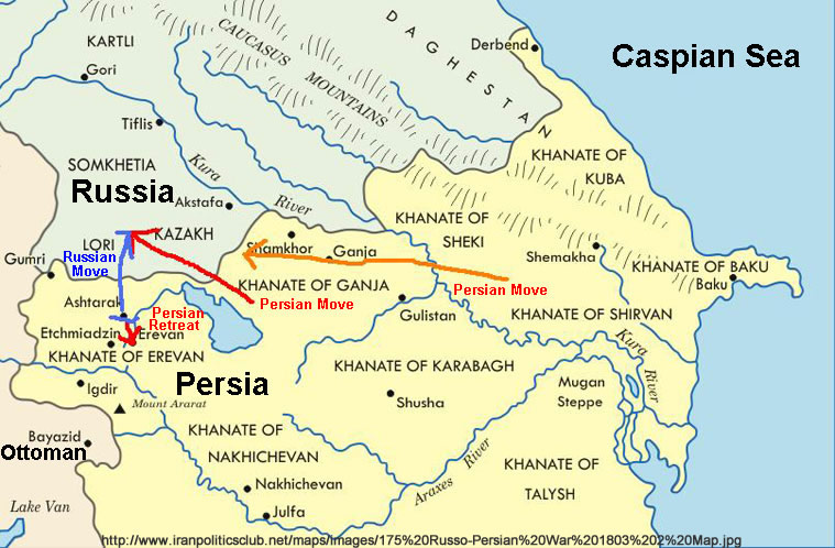 Other Territories Of The Caucasus Were Incorporated Into The Russian Empire At Various Times In The 19th Century As A Result Of Russian Wars With Persia