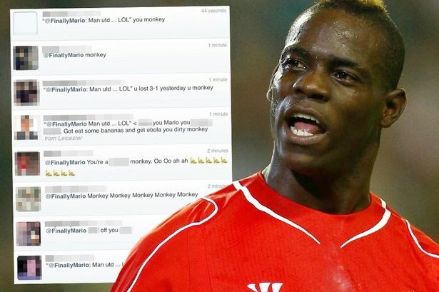 Abusing football players on Social Media