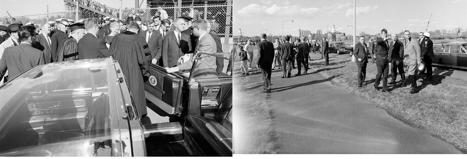 4/20/63, Boston, MA: JFK and, once again, the bubbletop he allegedly did not like