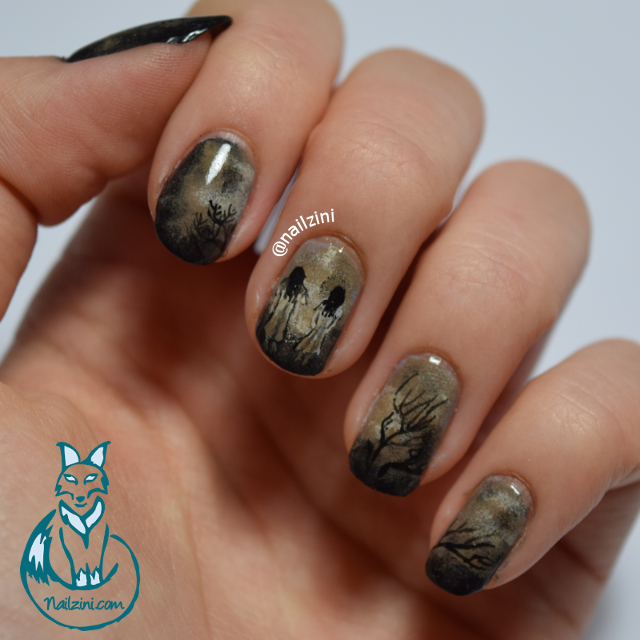 The Ring Inspired Halloween Nail Art Nailzini A Nail Art Blog