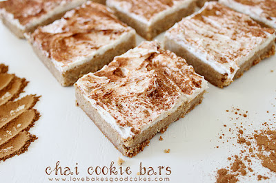 chai cookie bars