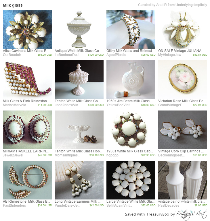 Milk glass on Etsy