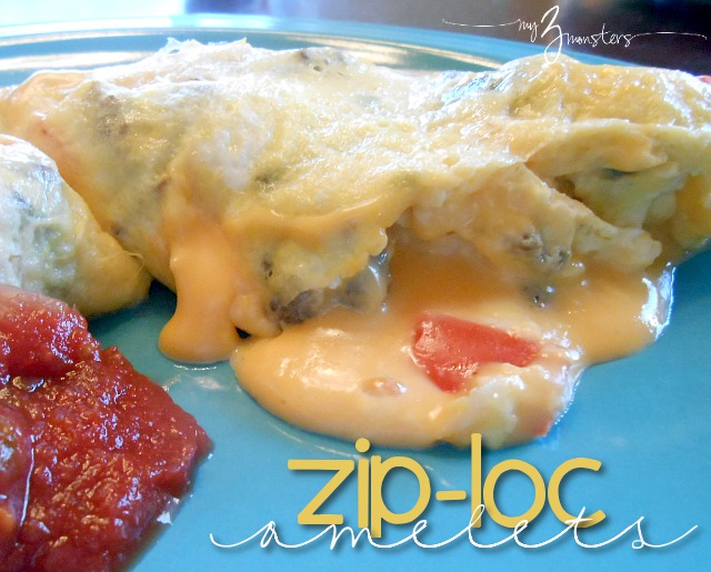 omelets cooked in a ziploc bag, easy family meal, easy omelet recipe
