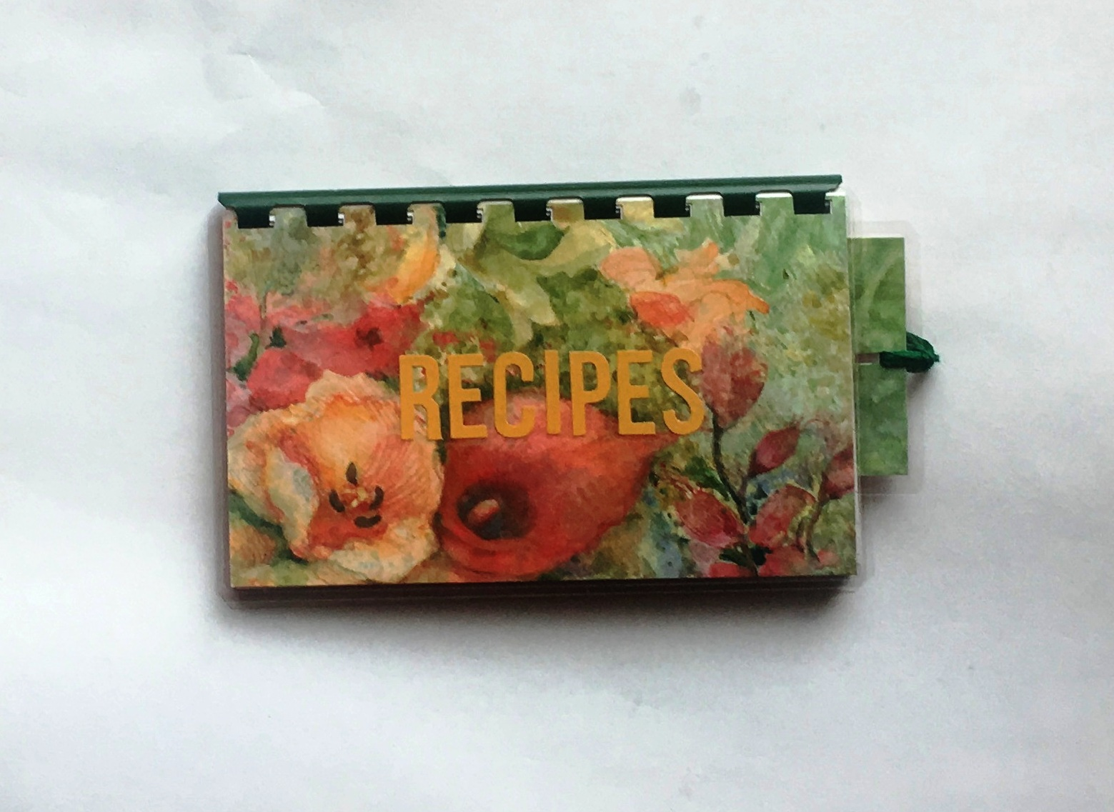 Green Flowers Blank Recipe Book for your Personal Recipes $7.99