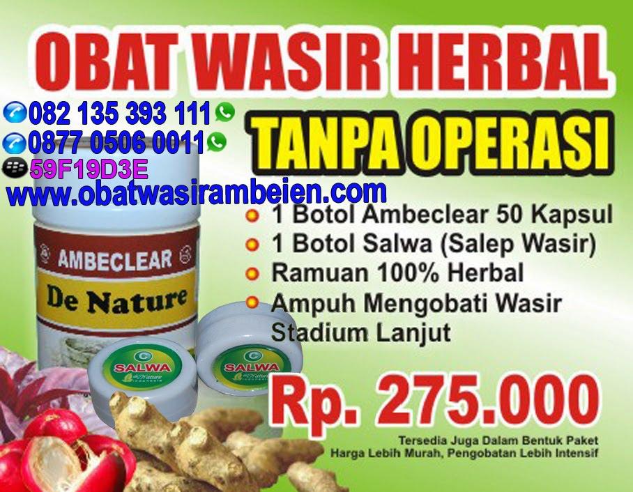 Obat Wasir Herbal Tanpa Operasi