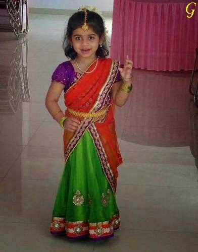 Baby Pictures- Babies Saree Wallpapers