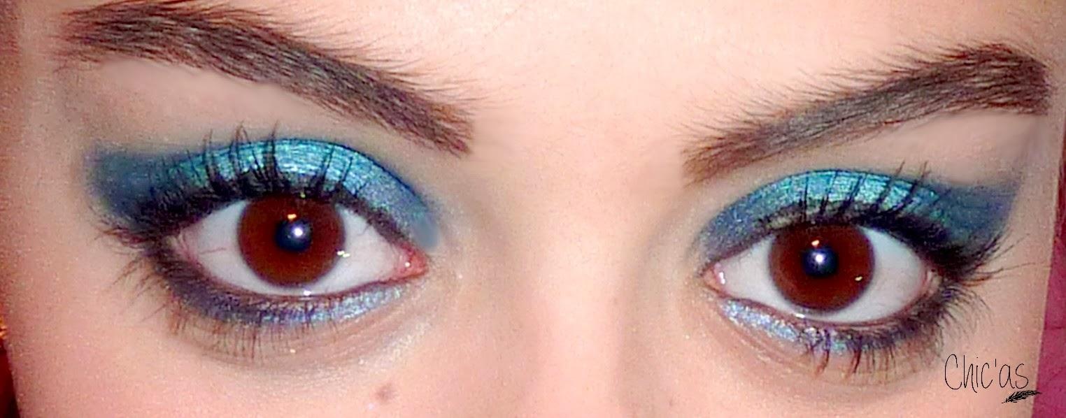 Chic 39 as maquillage de f tes bleu paillet - Make up yeux bleu ...