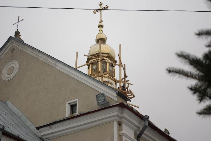 Купол з вітражами у виконанні п.Юрія Сенюка - світлина автора