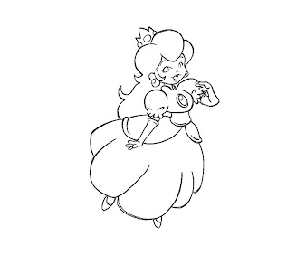 #13 Princess Peach Coloring Page