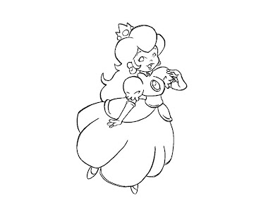 #13 Princess Peach Coloring Page