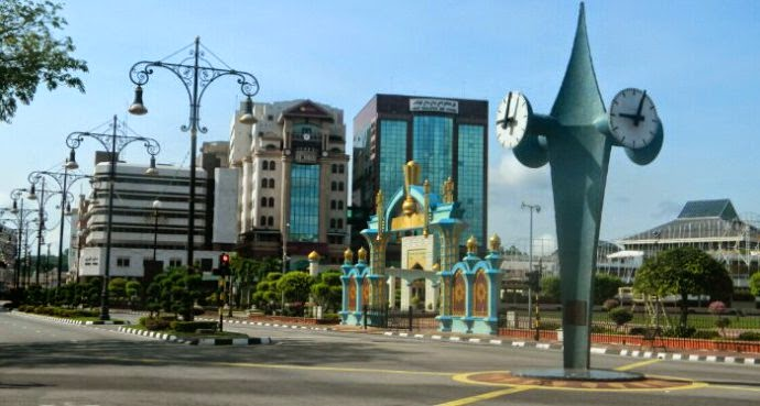 clock tower of brunei