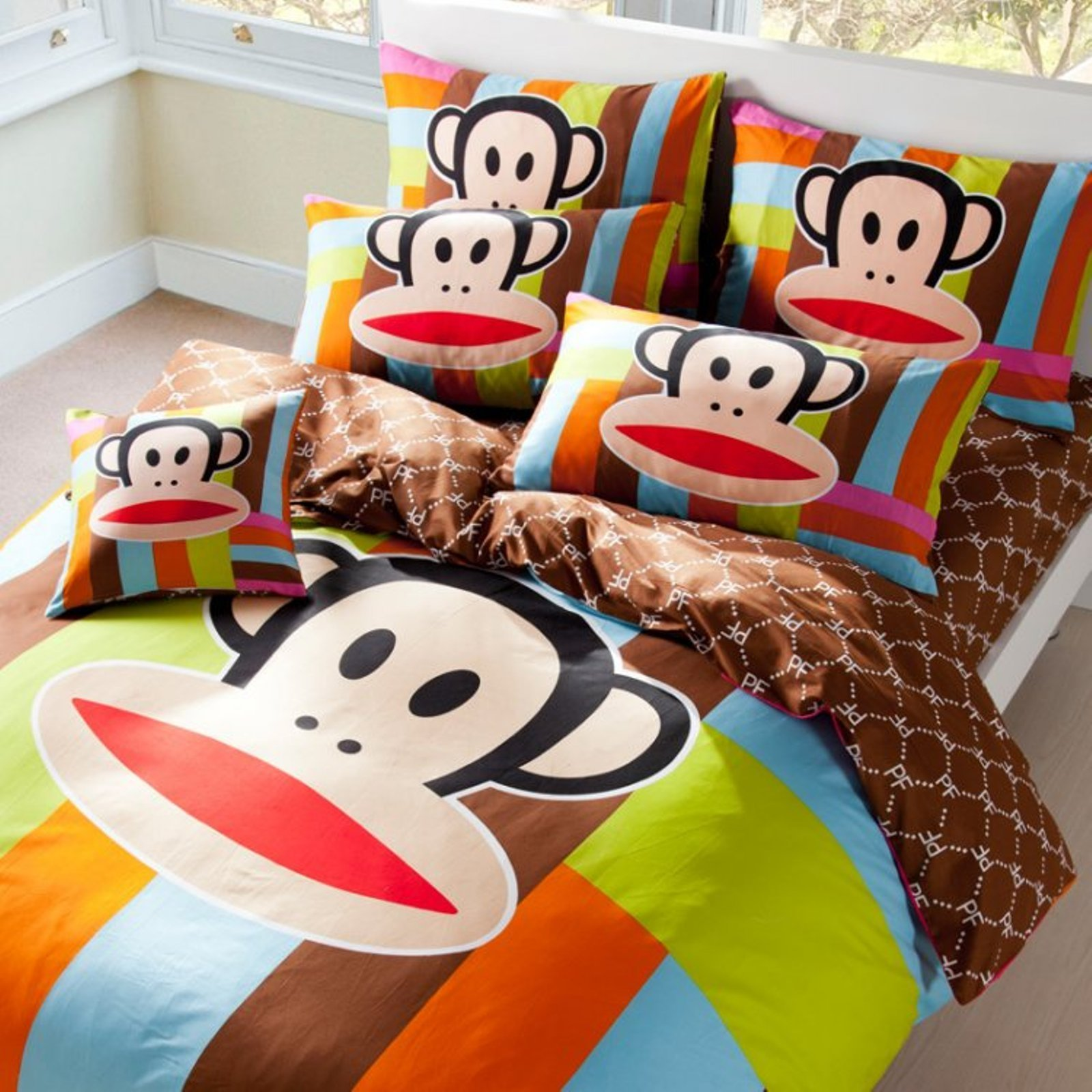 Paul Frank Bedding Sheet, Quilt, Pillowcase