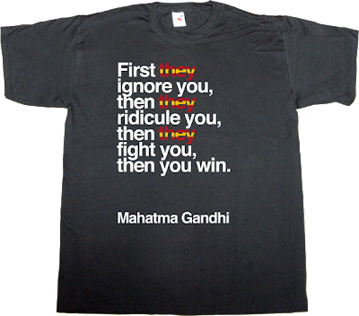 spain is different war catalonia freedom independence referendum useless spanish politics brilliant sentence gandhi t-shirt ephemeral-t-shirts peace