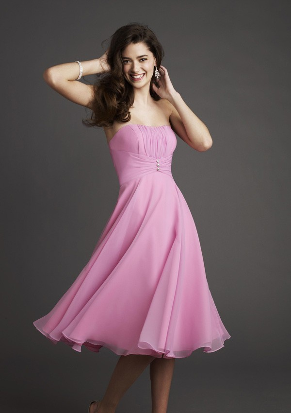 White And Pink Bridesmaid Dresses 38