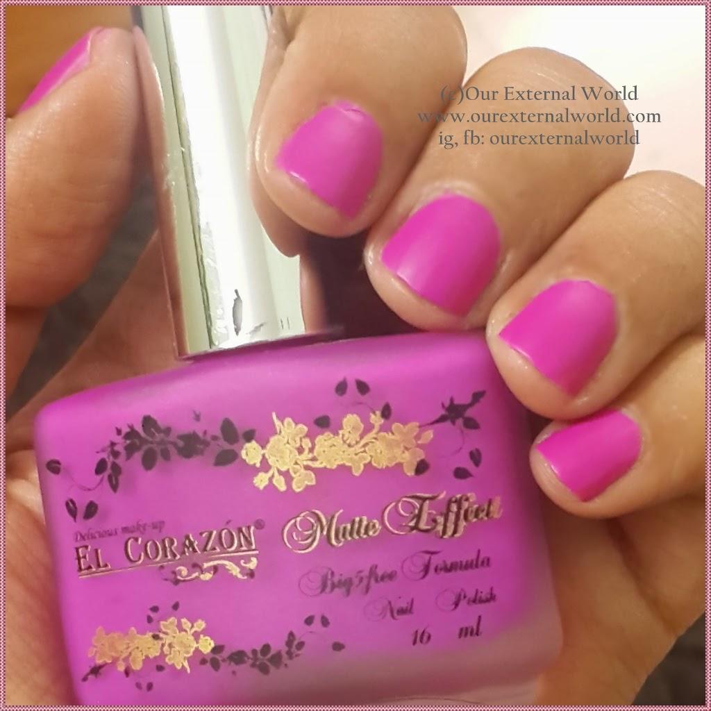To Get Matte Nails - El Corazon Matte Effect Neon 147