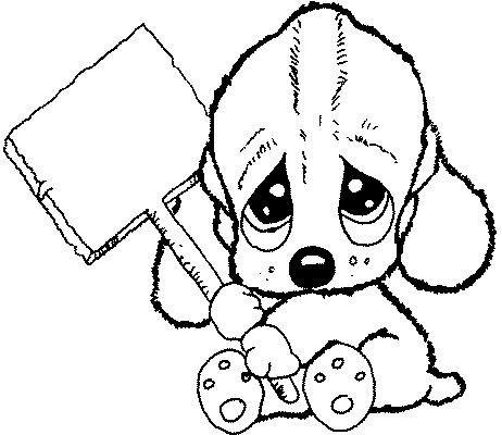 Dibujos para colorear,imprimir.: Dibujos de perritos.