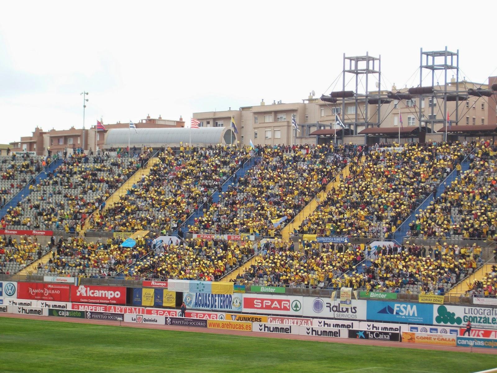 Grada Estadio Gran Canaria partido UD-Sporting
