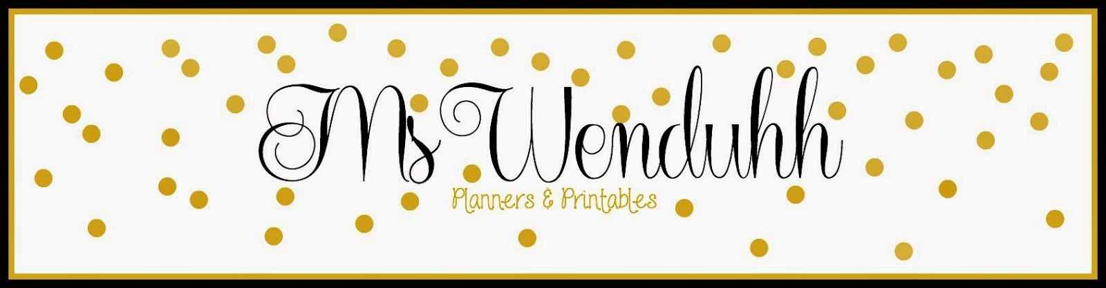 MsWenduhh Planners & Printables