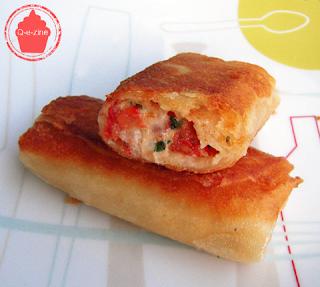 croustillant tomate mozzarella feuille brick