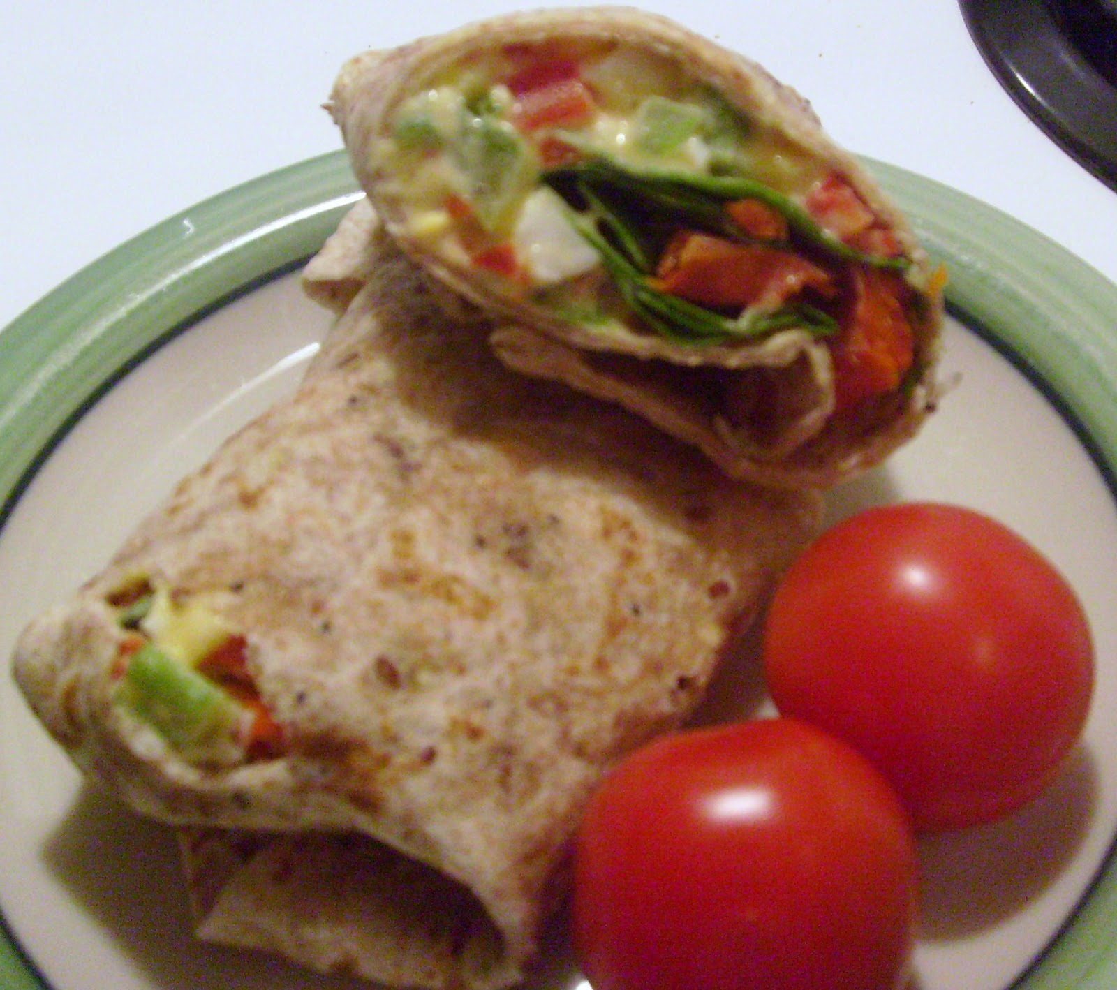 Smoked Salmon and Egg Salad Wraps