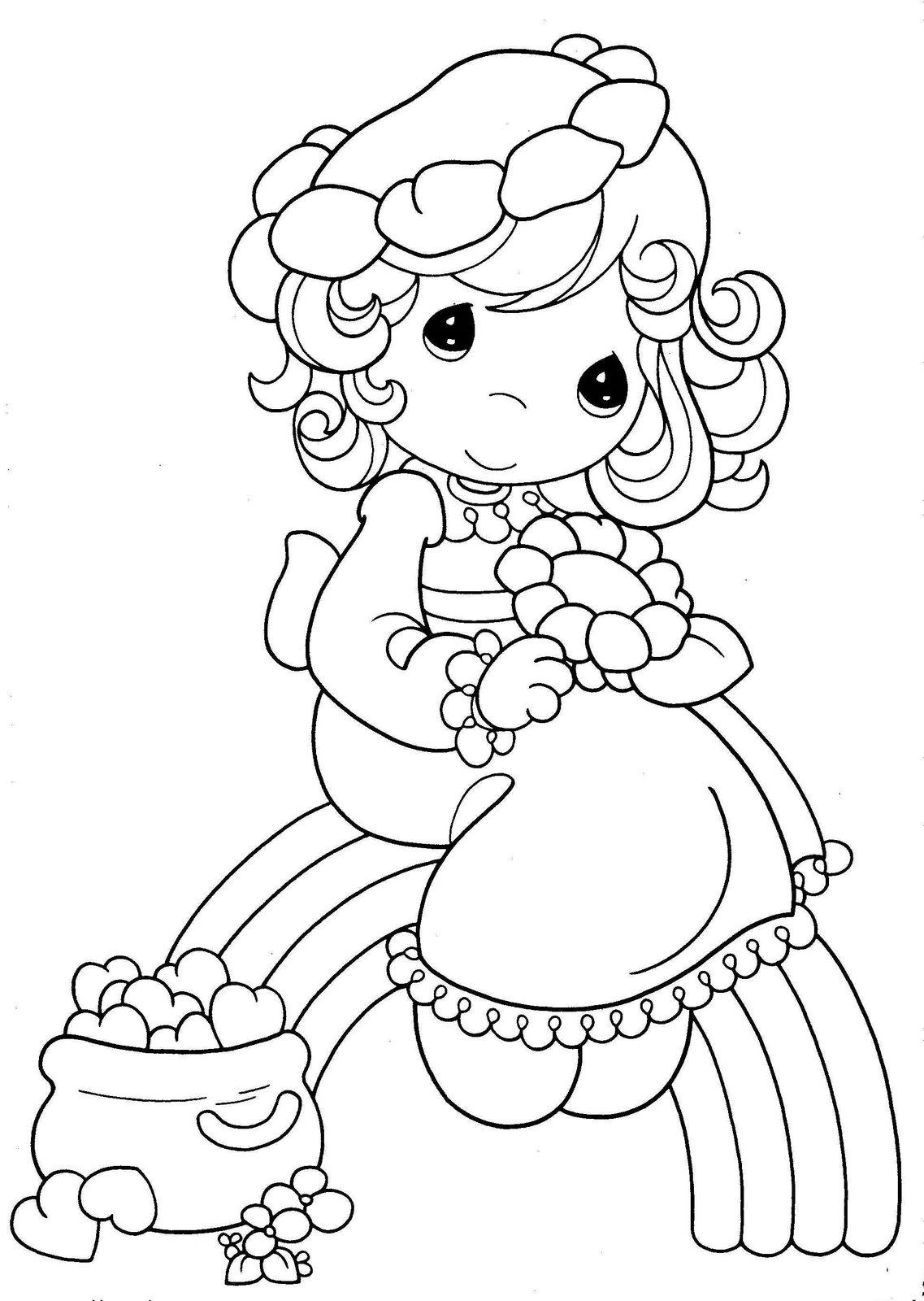 Dibujos para colorear niña - Dibujos para colorear - IMAGIXS
