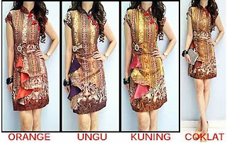 Foto Baju Batik Dress Kombinasi
