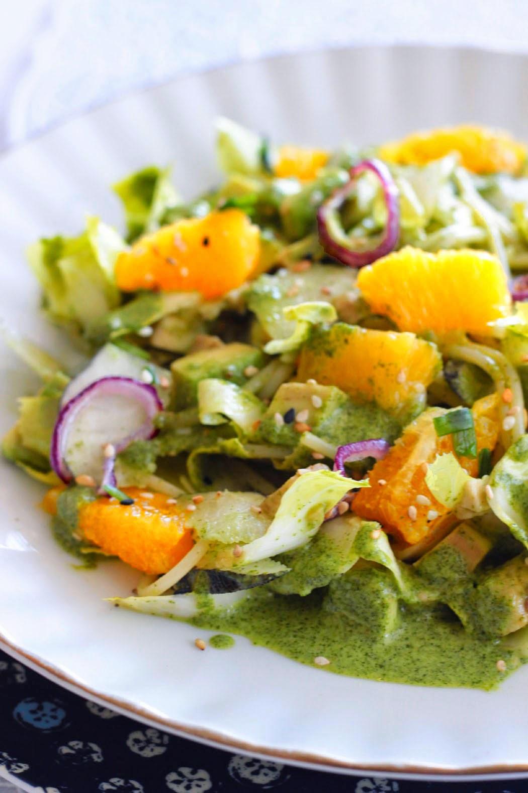 salade de p 226 tes 224 la sauce verte papillette