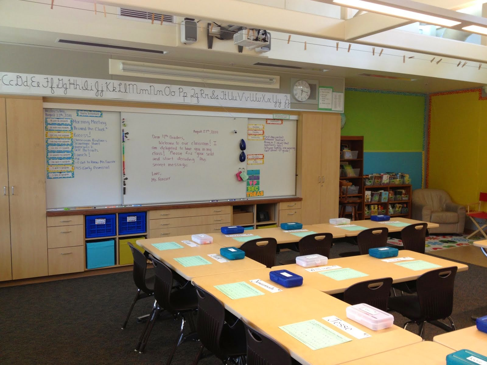 Room 29 is ready for 4th graders!