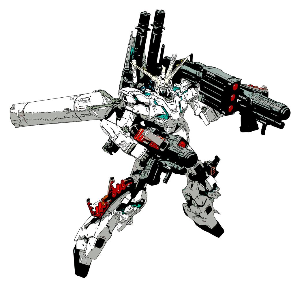 Free Illustration Vector Graphic Clip Art Of Gundam Unicorn Full Armor