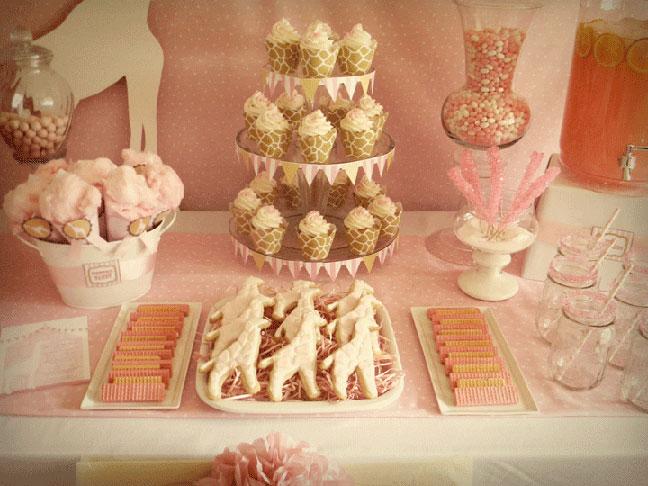 pink giraffe baby shower party kaylee miller