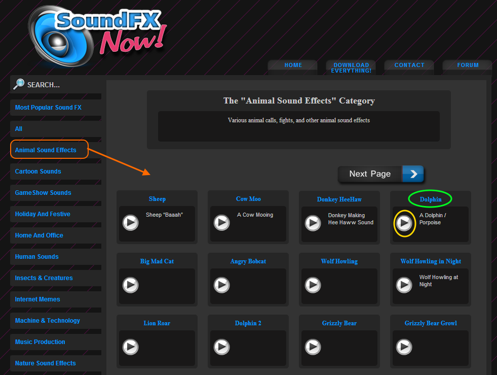 SoundFX grid