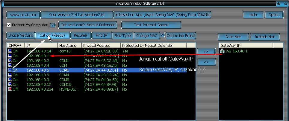 Curi Bandwidth Warnetmu Menggunakan Netcut