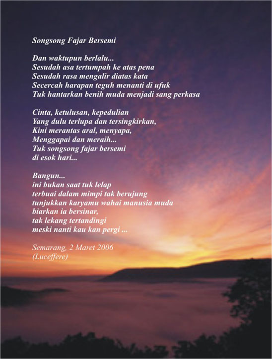 Kumpulan Puisi indah bergambar