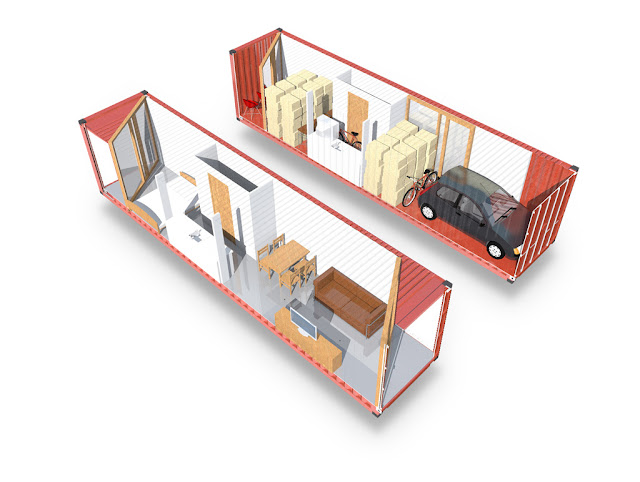Shipping container homes shipping containers can help refugees concept by middelkoop architecten - How to insulate a shipping container home ...