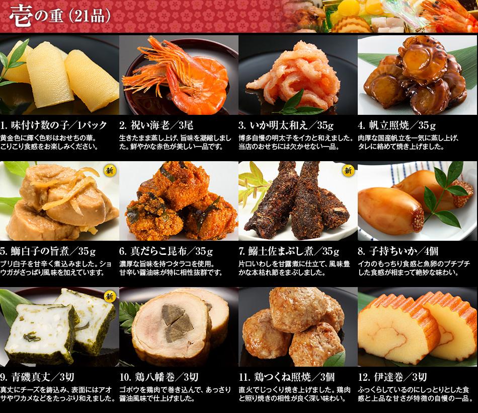 博多久松 和洋折衷定番おせち料理3人前 『春日』 1234