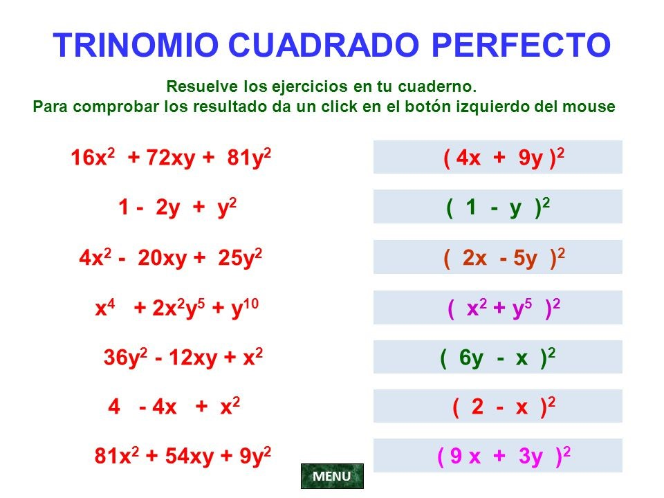 Matemática-te Octavo grado: CASOS DE FACTORIZACIÓN