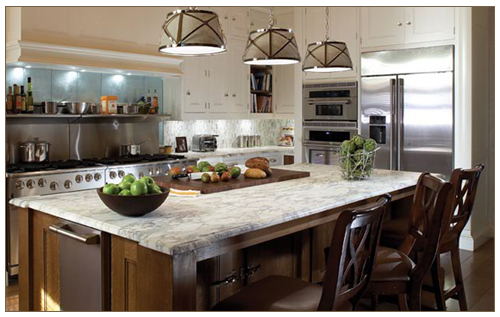 placed bowls are all you need in this stunner of a kitchenHuge Kitchen Islands