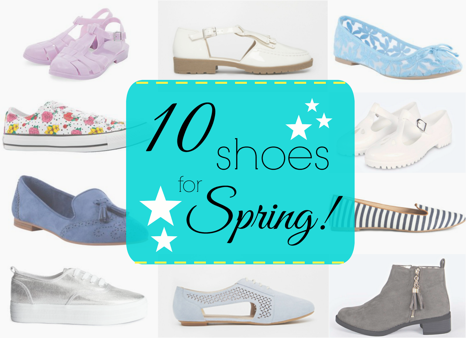shoes flats spring ss15 wishlist asos new look boohoo f+f converse h&m jones bootmaker