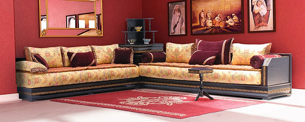 salon marocain salon marocain traditionnel. Black Bedroom Furniture Sets. Home Design Ideas